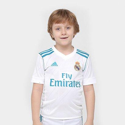 A Camisa Real Madrid Infantil Home 17 18 - Torcedor Adidas veste o pequeno  torcedor bbcb2802856b0