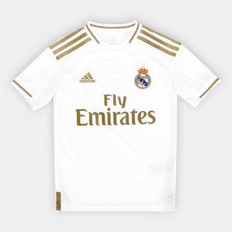 Camisa Real Madrid Infantil Home 19/20 s/n° Torcedor Adidas