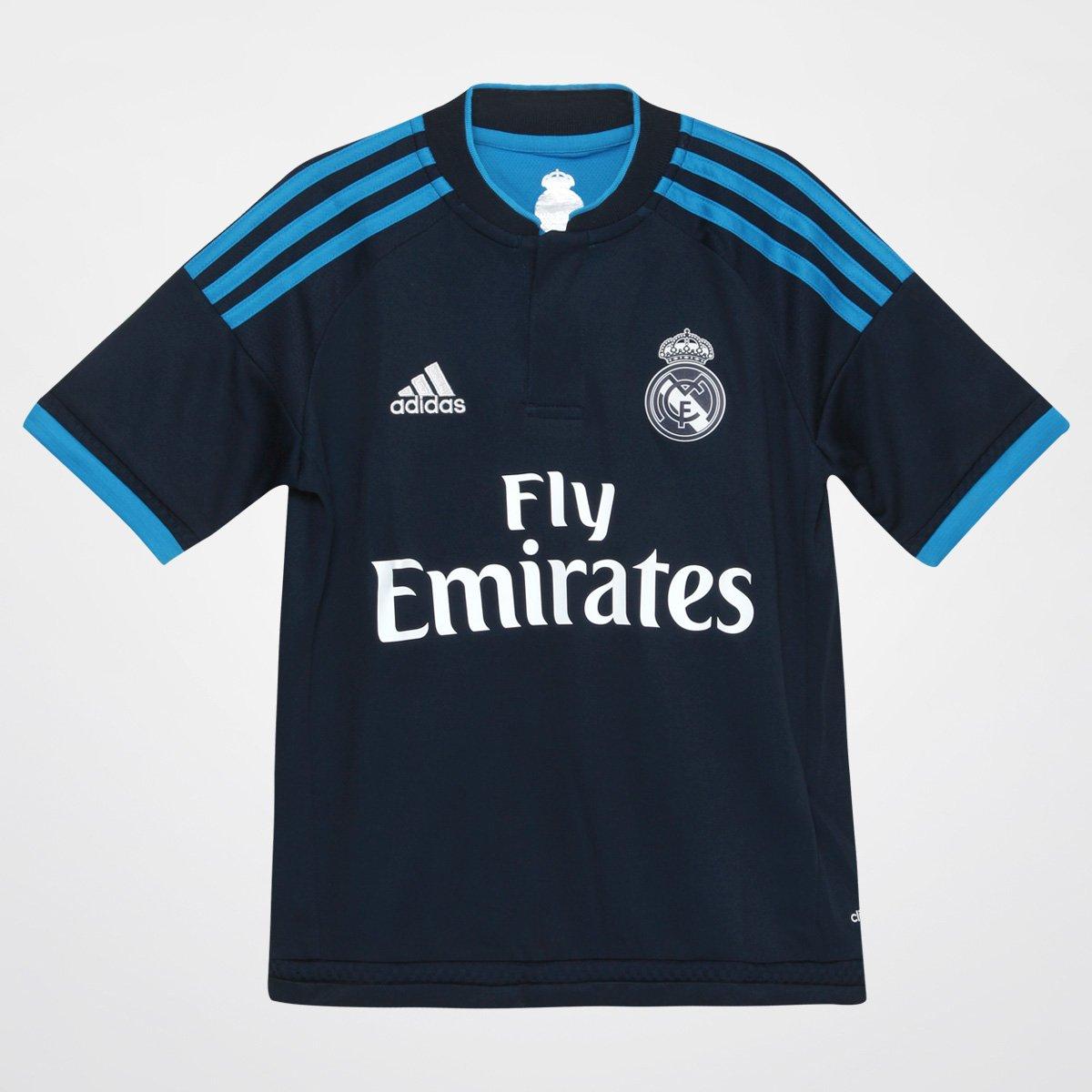 Camisa Real Madrid Infantil Third 15 16 s nº - Torcedor Adidas - Compre  Agora  d7107e5b0d9bb