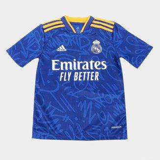 Camisa Real Madrid Juvenil Away 21/22 s/n° Torcedor Adidas