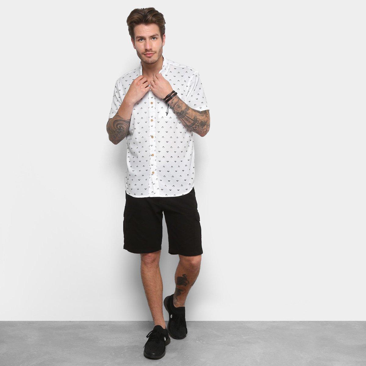 fc361e9486 Camisa Redley Mc Mini Icons Pattern Masculina - Compre Agora