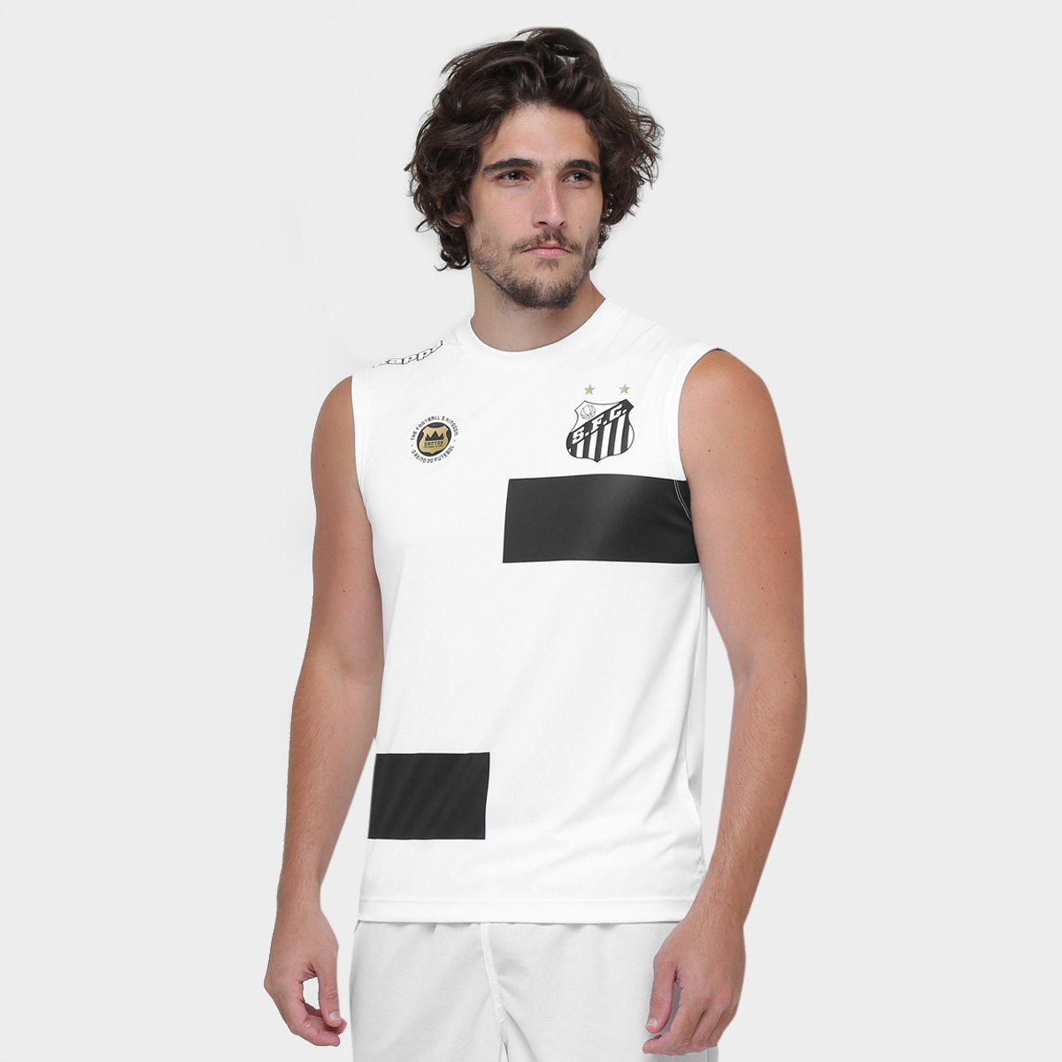 9b4220896ce13 Camisa Regata Kappa Santos Elenco Treino 17 18 - Compre Agora