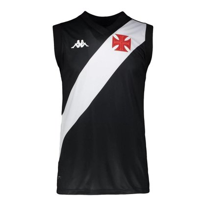 Camisa Regata Vasco 2021 Basquete Home Preta Kappa Oficial
