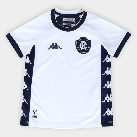 Camisa Remo Infantil II 20/21 s/nº Torcedor Kappa - Branco+Marinho