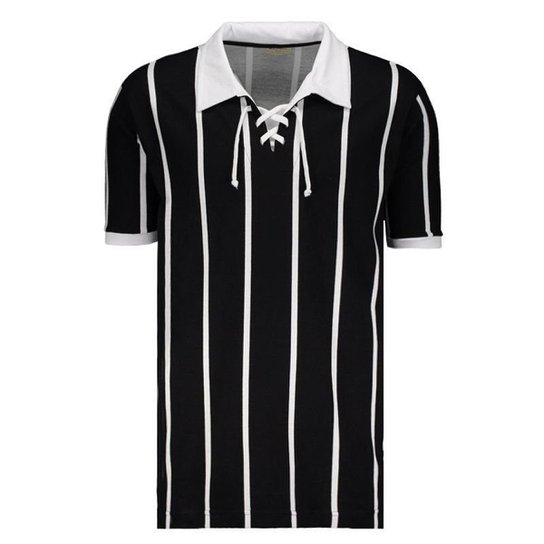 Camisa Retrô Alvinegro SP 1929 Masculina - Preto