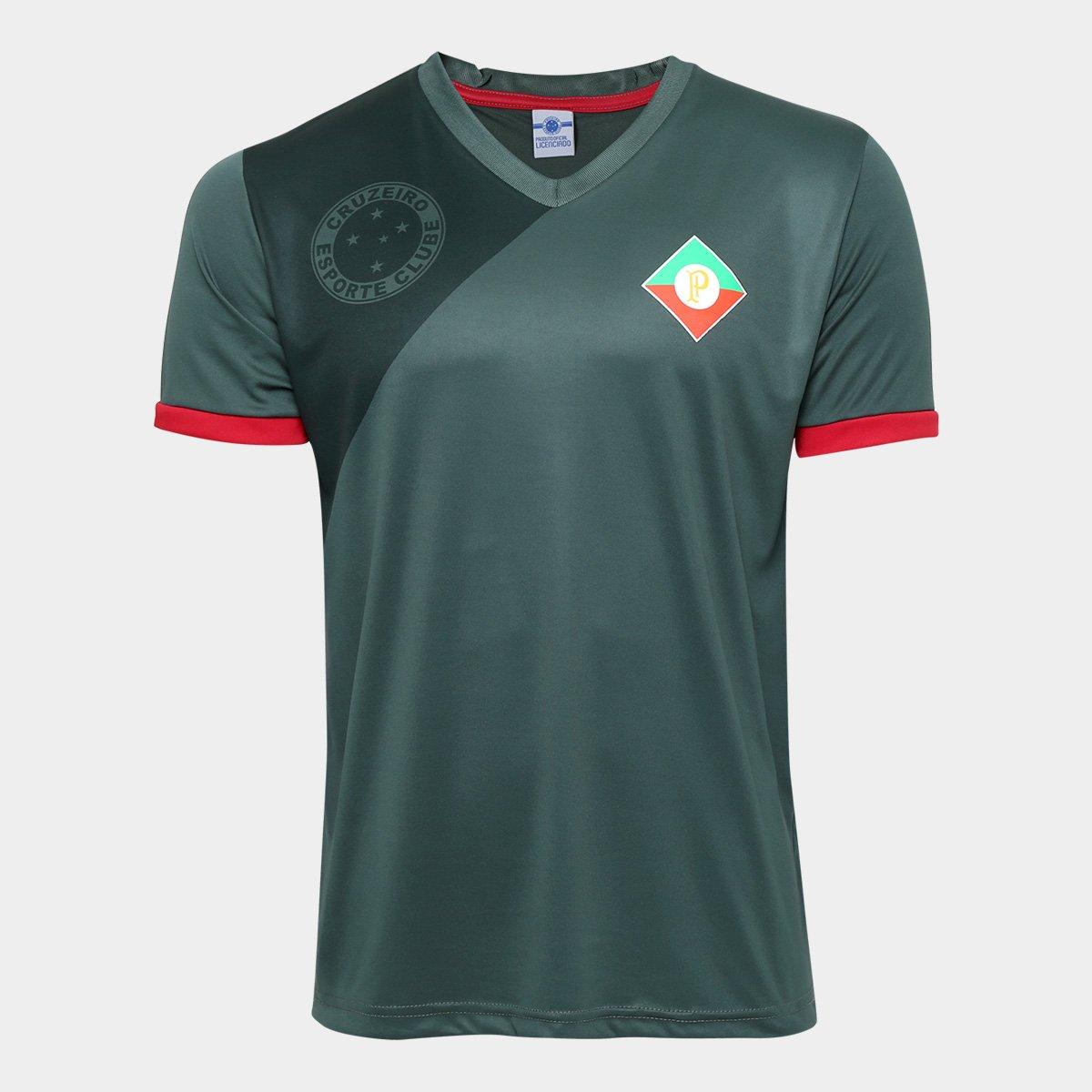 Camisa Retrô Cruzeiro Palestra Itália Masculina - Verde - Compre Agora  0a9c52cb03a10