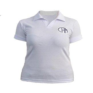 Camisa Retrô Feminina Atlético Mineiro Polo Basic Branca