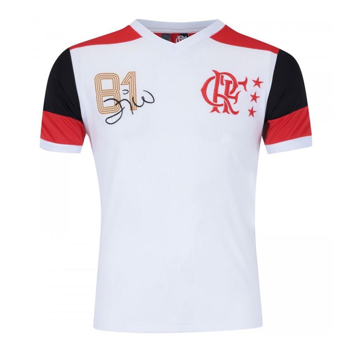 3f59b7c81dfcf Camisa Retrô Flamengo Réplica Mundial 81 Zico DRY - Compre Agora ...