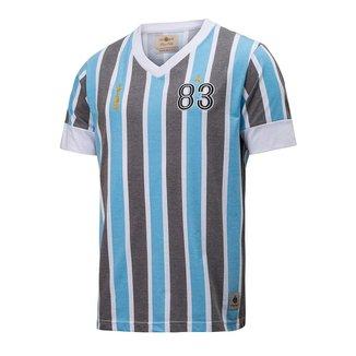 Camisa Retrô Gol Grêmio Réplica 83 Libertadores Masculina