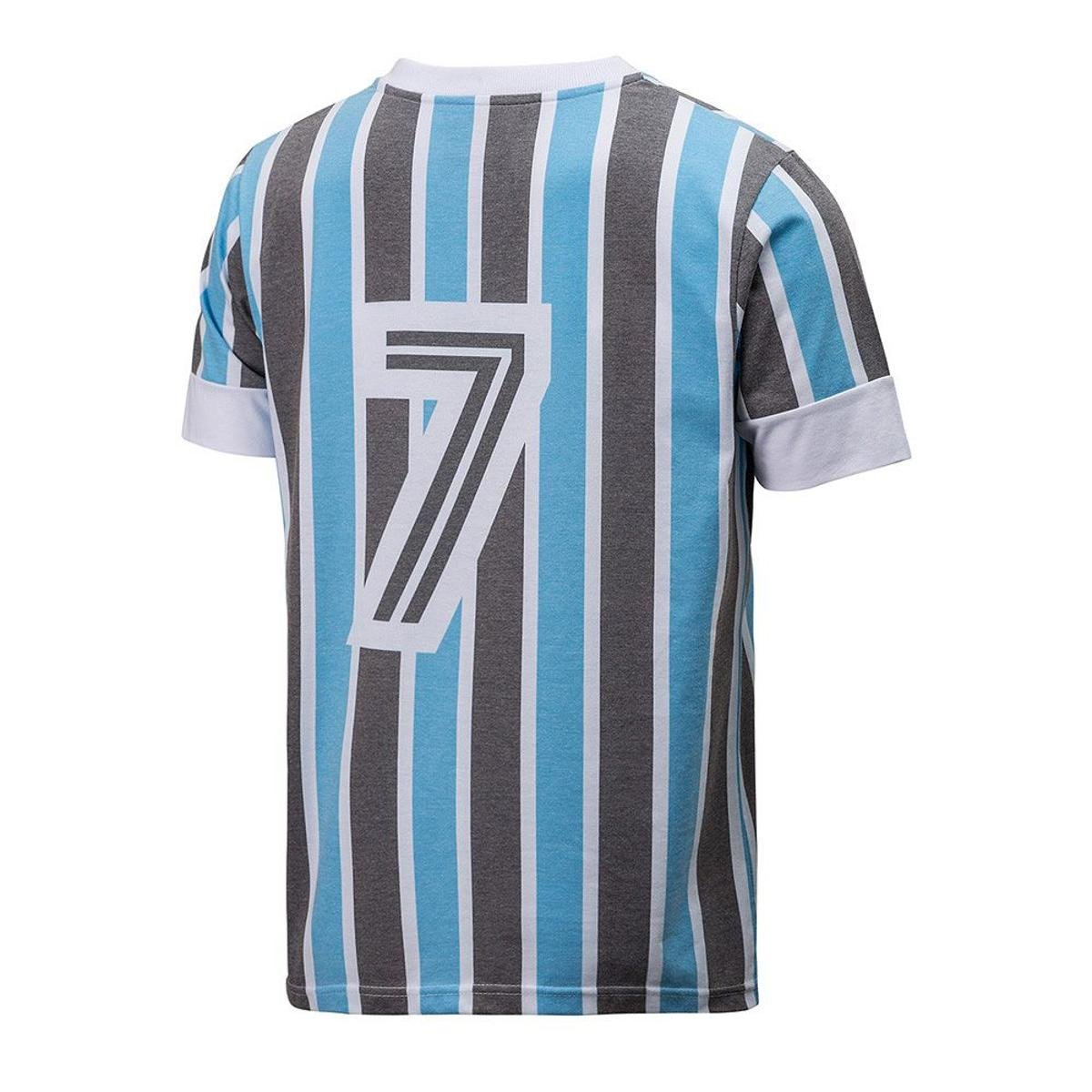 Camisa Retrô Gol Grêmio Réplica 83 Libertadores Masculina - Azul e Preto 97a4302d8198e