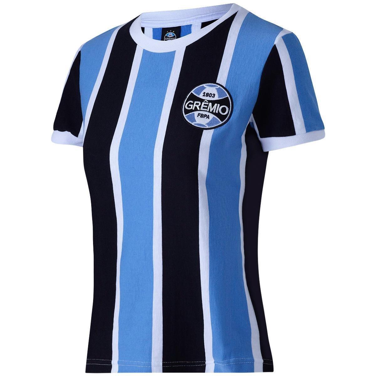 34525c369637f Camisa Retrô Grêmio 1972 Feminina - Azul - Compre Agora