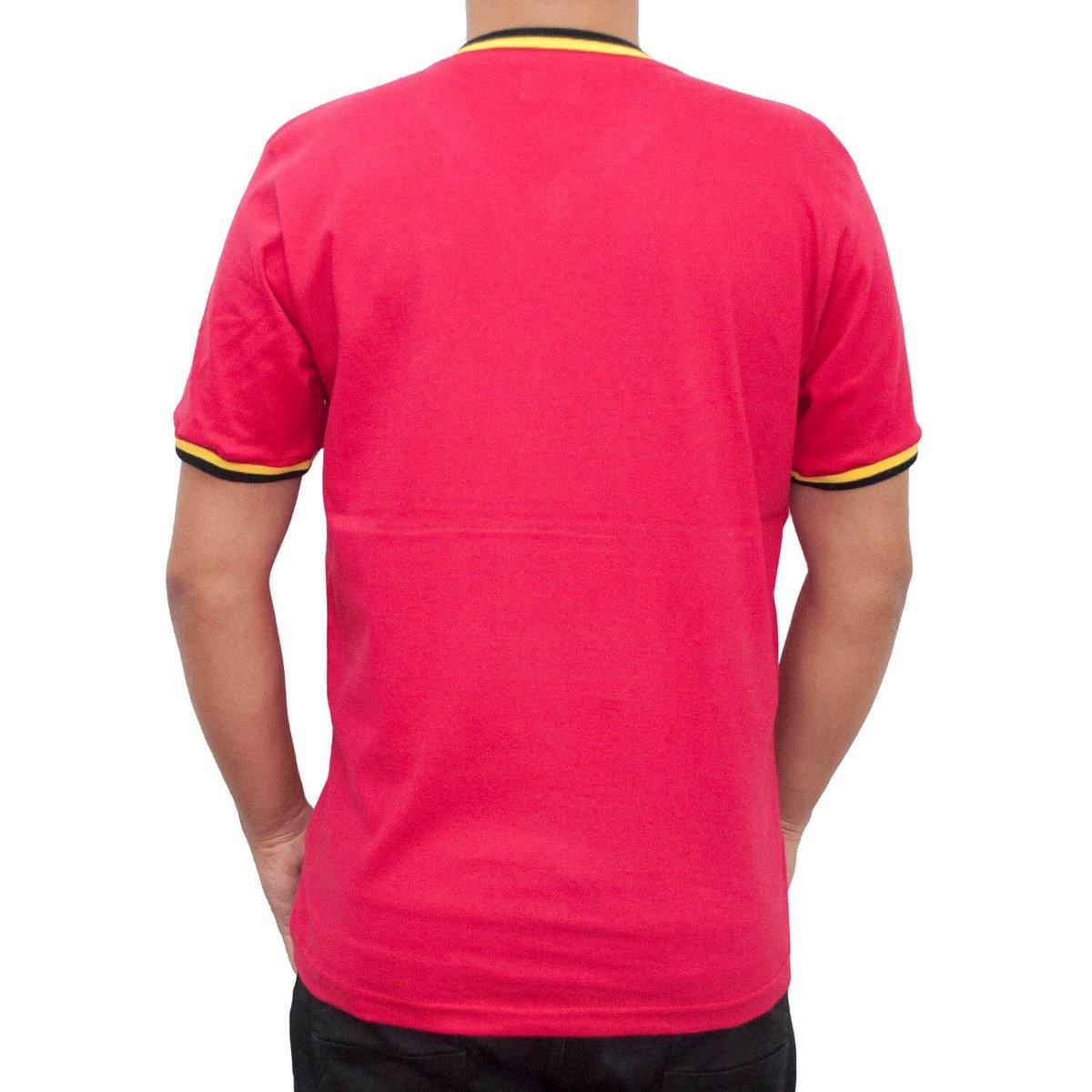 Camisa Retrô Mania Bélgica 1970 Masculina - Vermelho - Compre Agora ... 57334f425c3a4