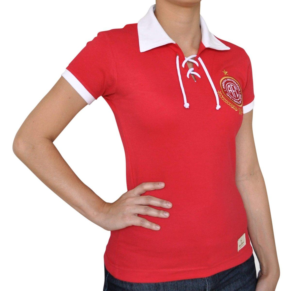 Camisa Retrô Mania Feminina América Centenário - Compre Agora  7f8be81c4ef43