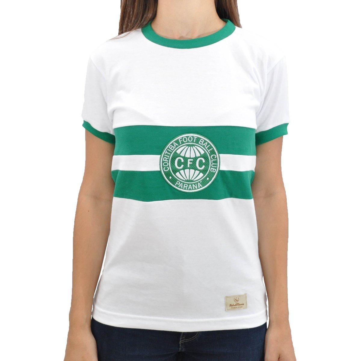 1976 Retrô Mania Camisa Retrô Branco Feminina Camisa Coritiba Mania q0wHxrAp5w