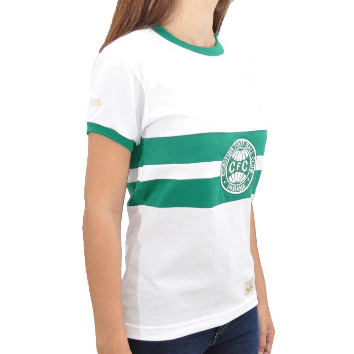 Coritiba Camisa 1976 Feminina Retrô Retrô Branco Mania Mania Camisa g4Yqw5