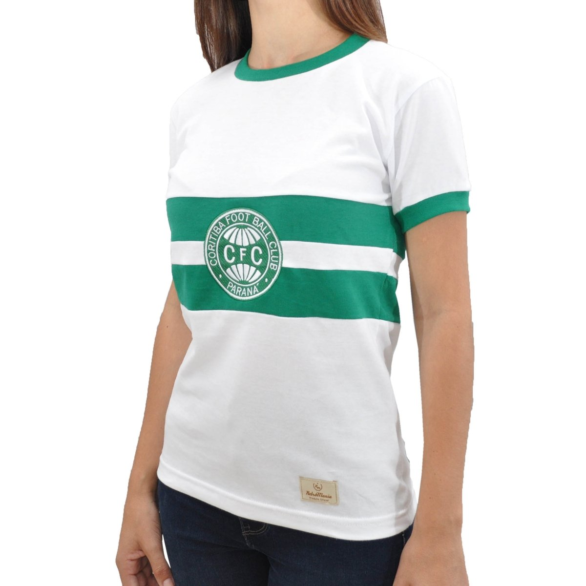 Camisa Feminina Coritiba 1976 Mania Camisa Branco Retrô Retrô Xna5xR