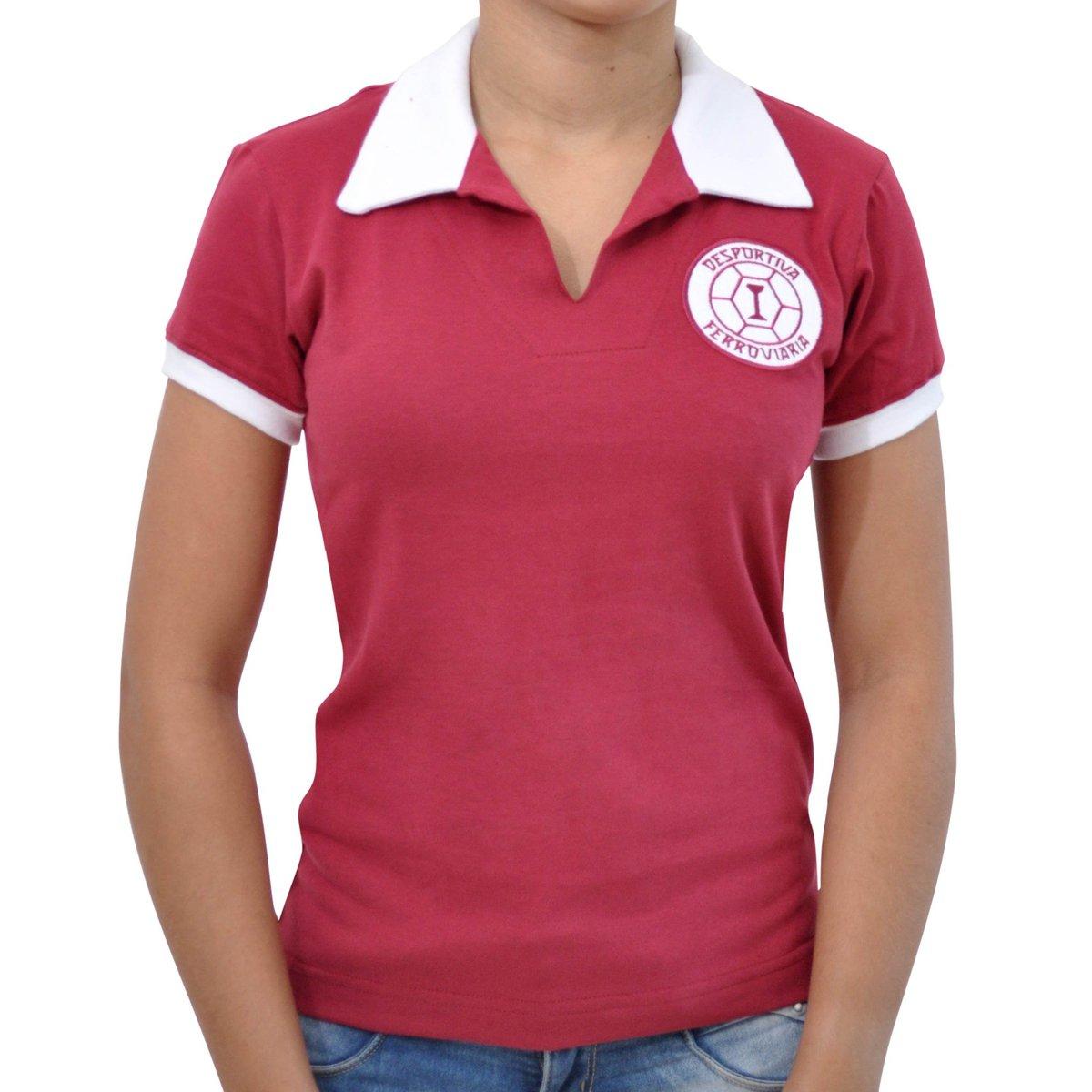 Camisa Retrô Mania Mania Retrô Vinho 1965 Camisa Feminina Desportiva Ferroviária dSw7SxF6q