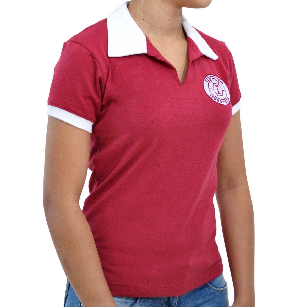 Mania Vinho Desportiva 1965 Camisa Retrô Feminina Feminina Mania Camisa Desportiva Ferroviária 1965 Ferroviária Retrô Vinho Camisa 6gxxvw