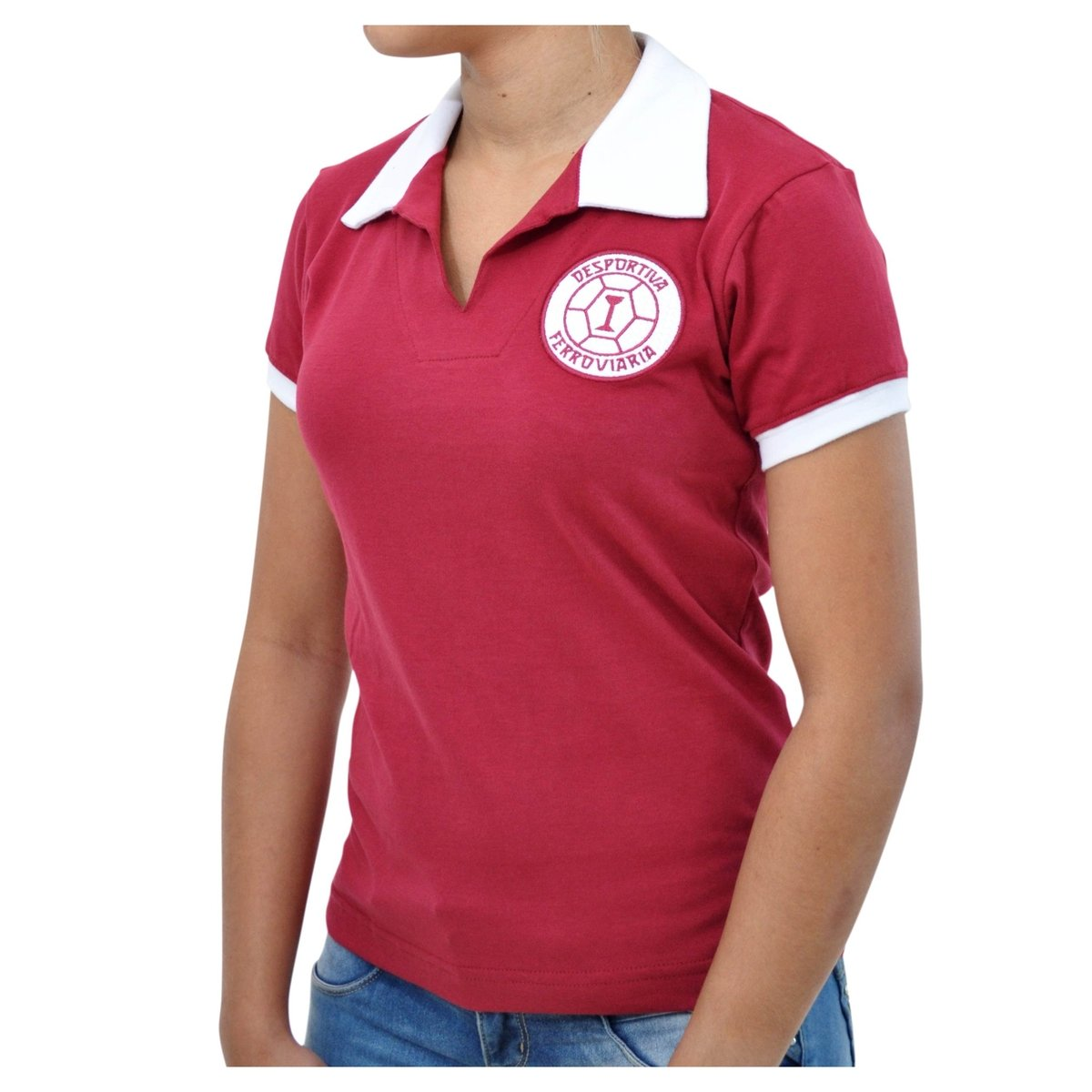 Retrô Mania Vinho Camisa Camisa Retrô Feminina Desportiva Desportiva 1965 Ferroviária Mania Feminina X6A6Ux