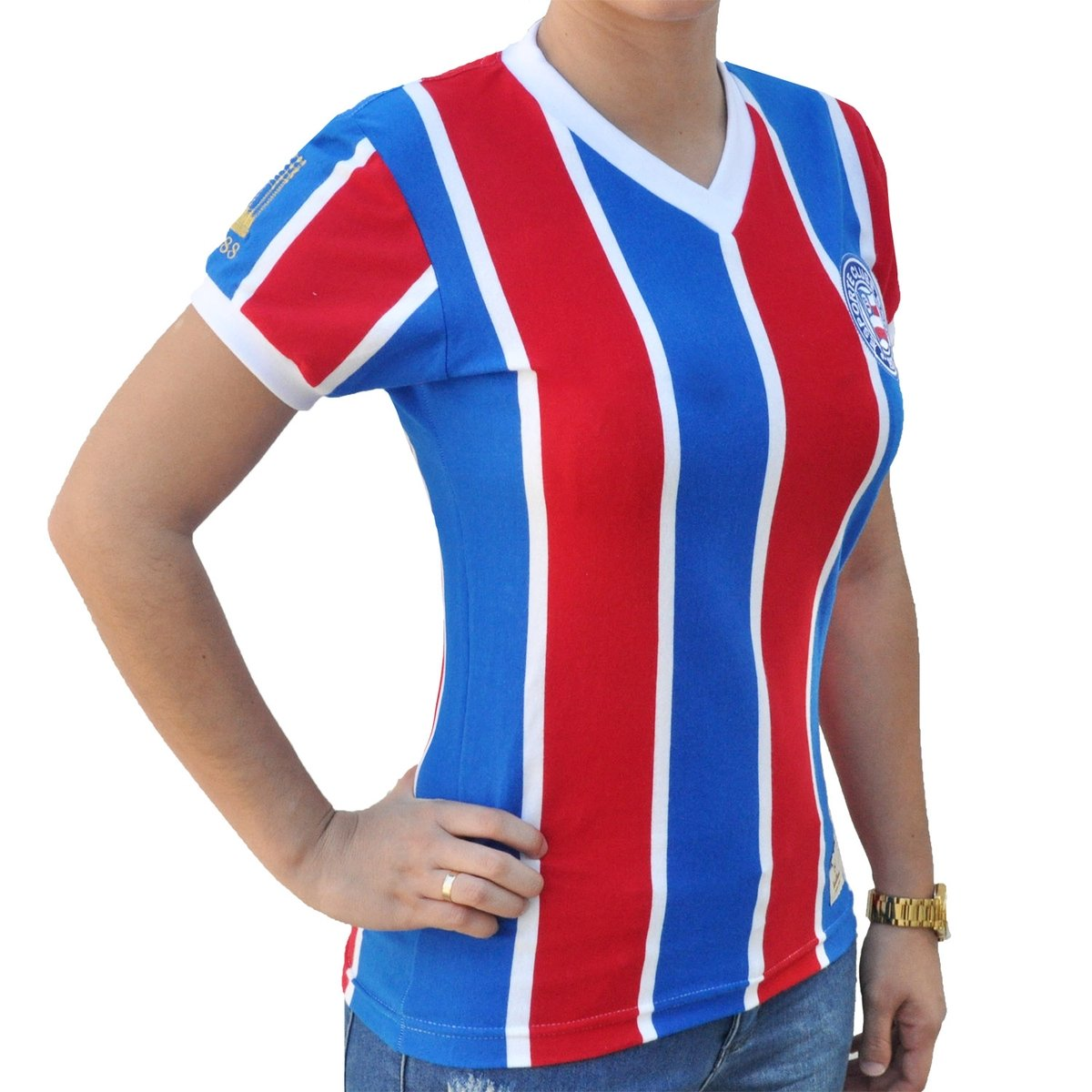 Camisa Retrô Mania Feminina EC Bahia 1988 187960fe44dea