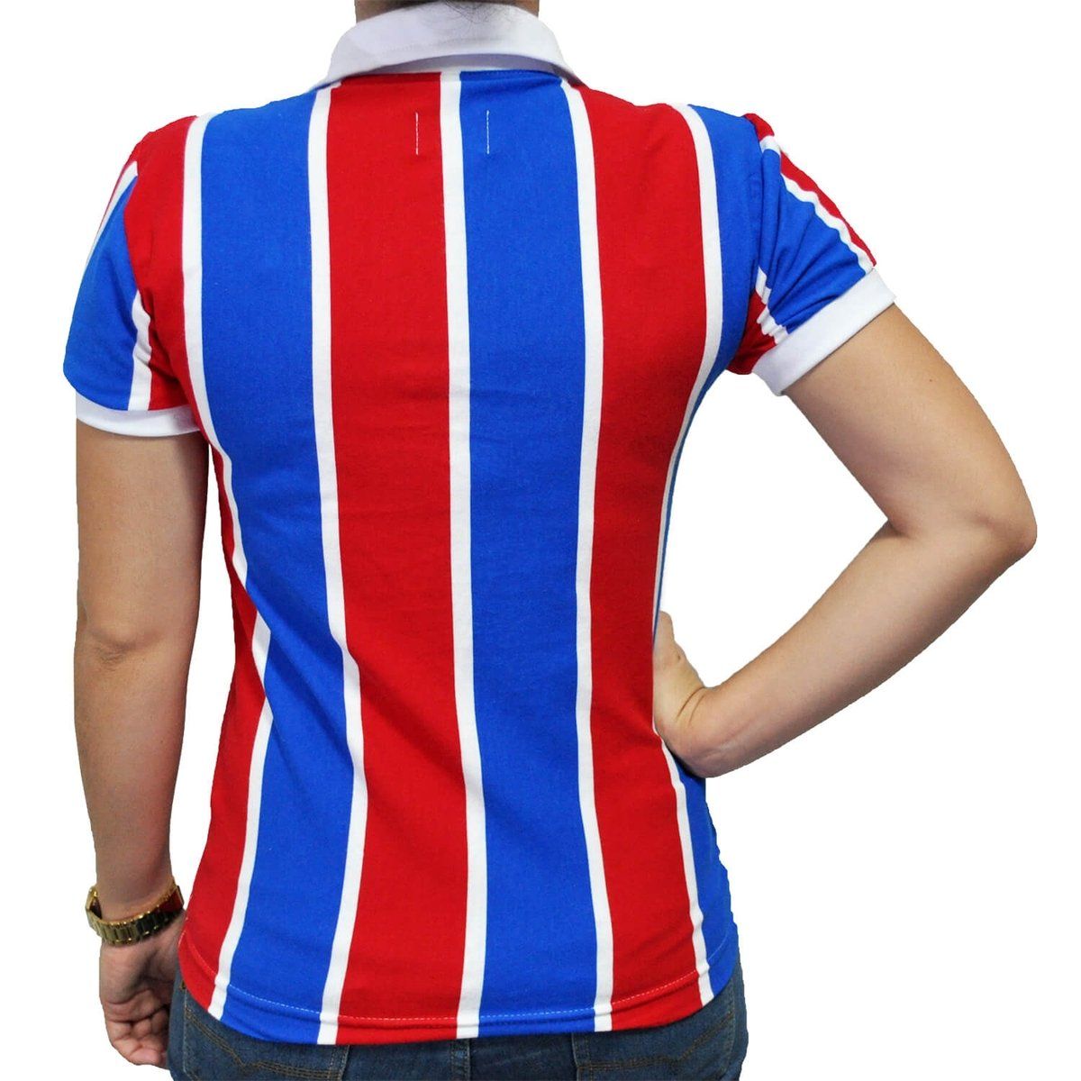 Mania e Bahia EC Feminina Vermelho Cordinha Camisa Azul Retrô Uwq5ff