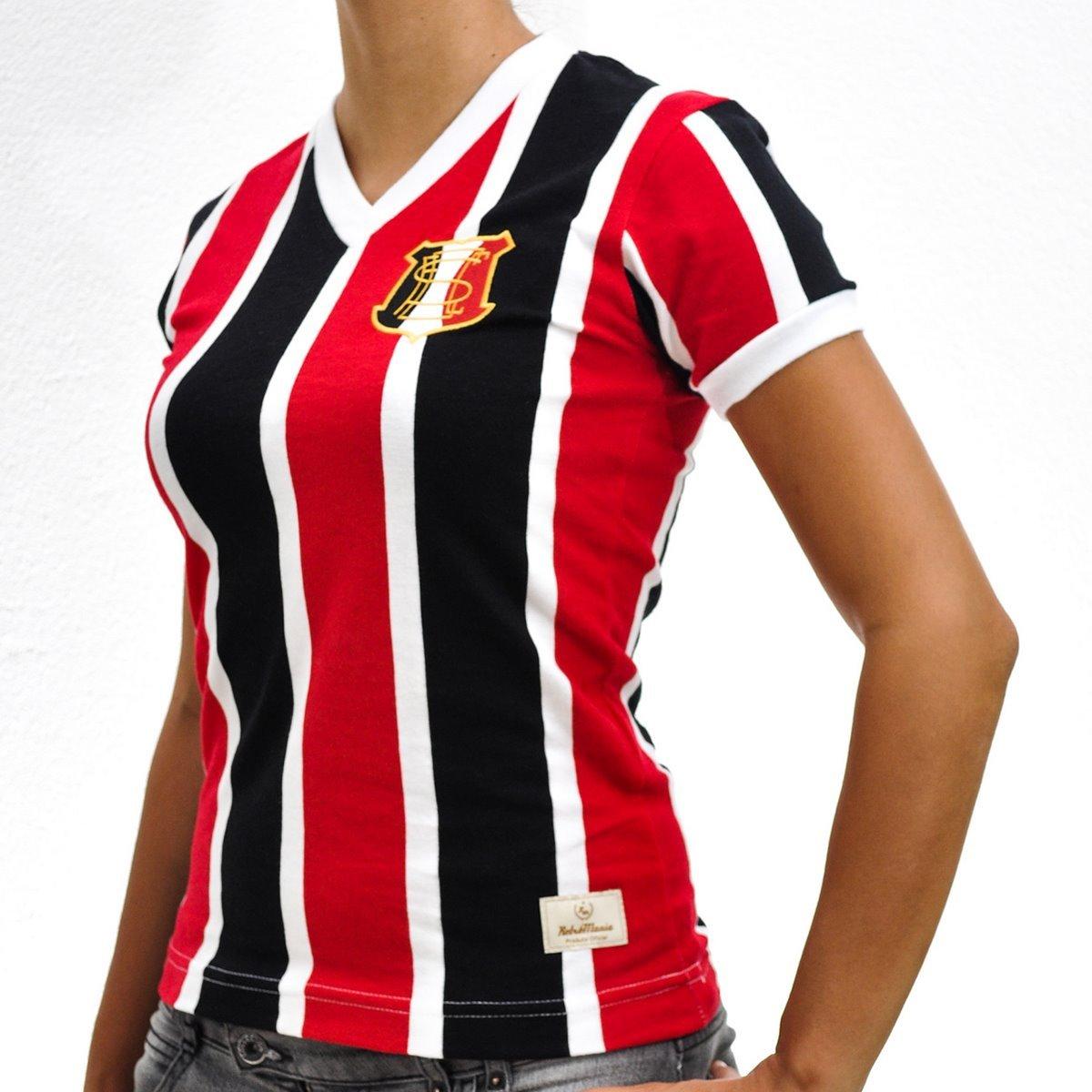 Preto Cruz Retrô Mania e Santa 1983 Camisa Feminina PE Vermelho Idq7xw0