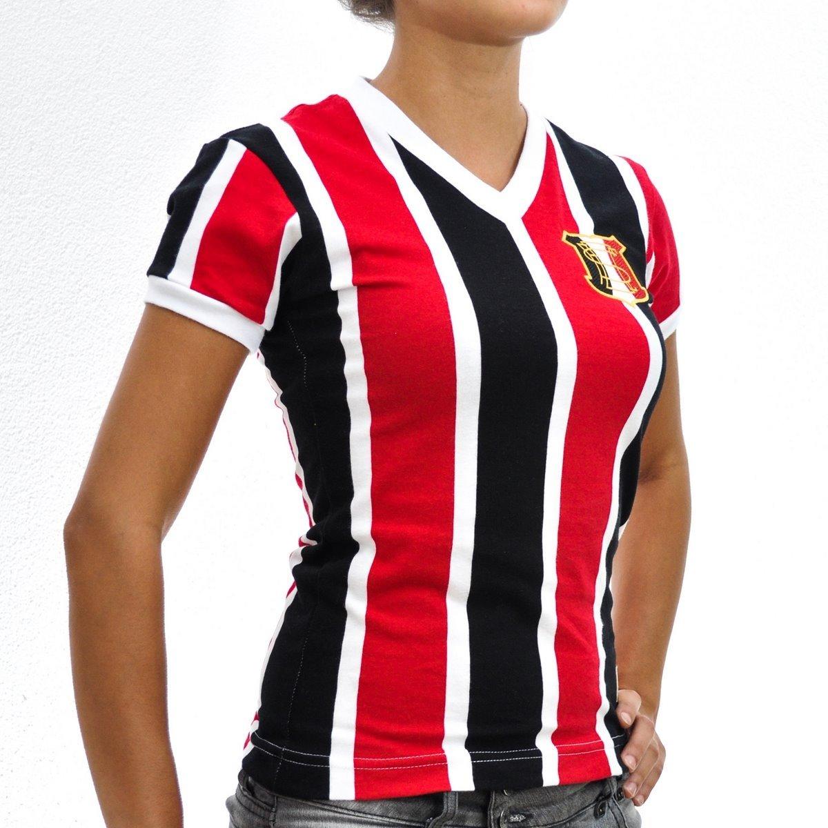 Mania Camisa Retrô 1983 Feminina e Santa PE Preto Cruz Vermelho q5p5Ar