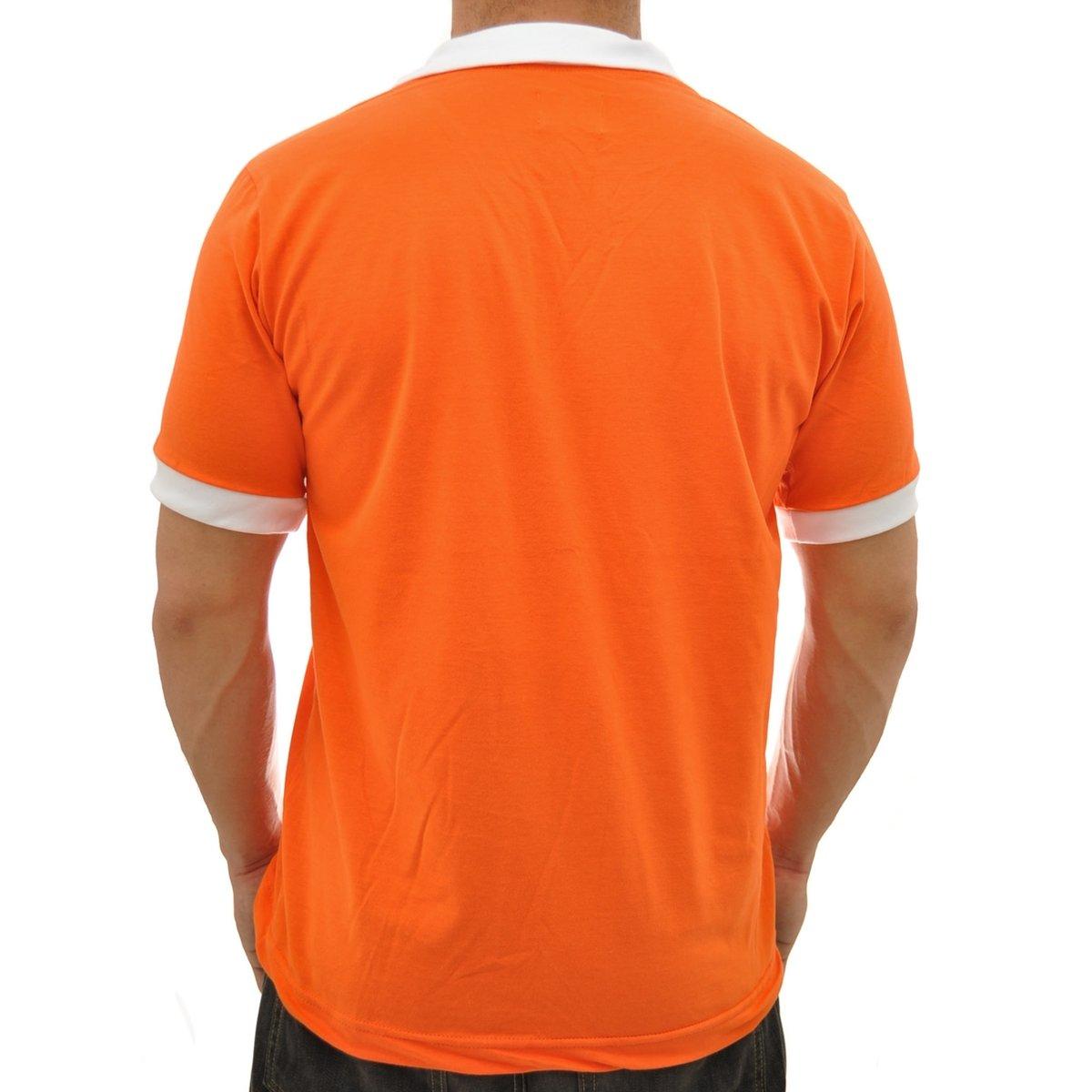 Camisa Retrô Mania Holanda 1990 Masculina - Laranja - Compre Agora ... 7e78eecf9f1e5