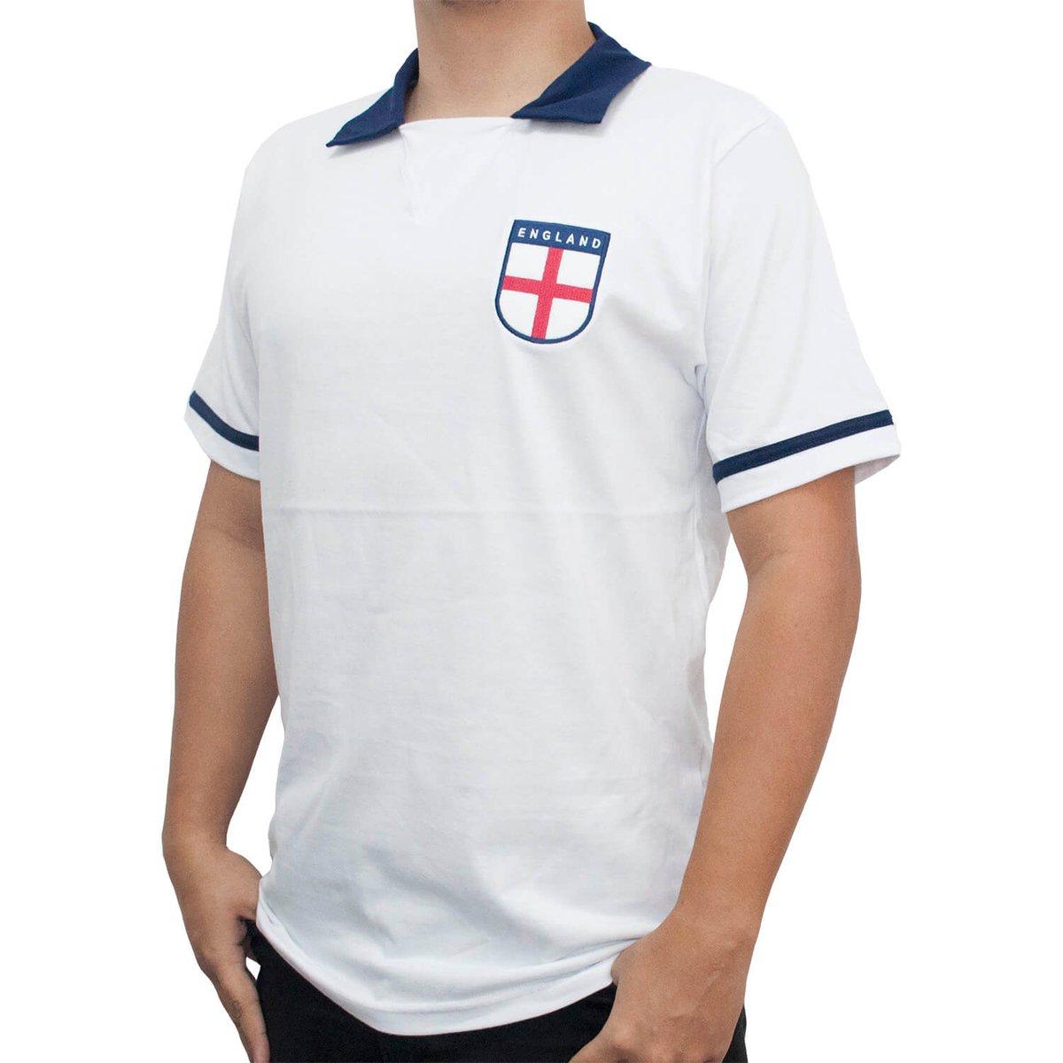 1d4f324e46 Camisa Retrô Mania Inglaterra 1990 Masculina - Branco - Compre Agora ...
