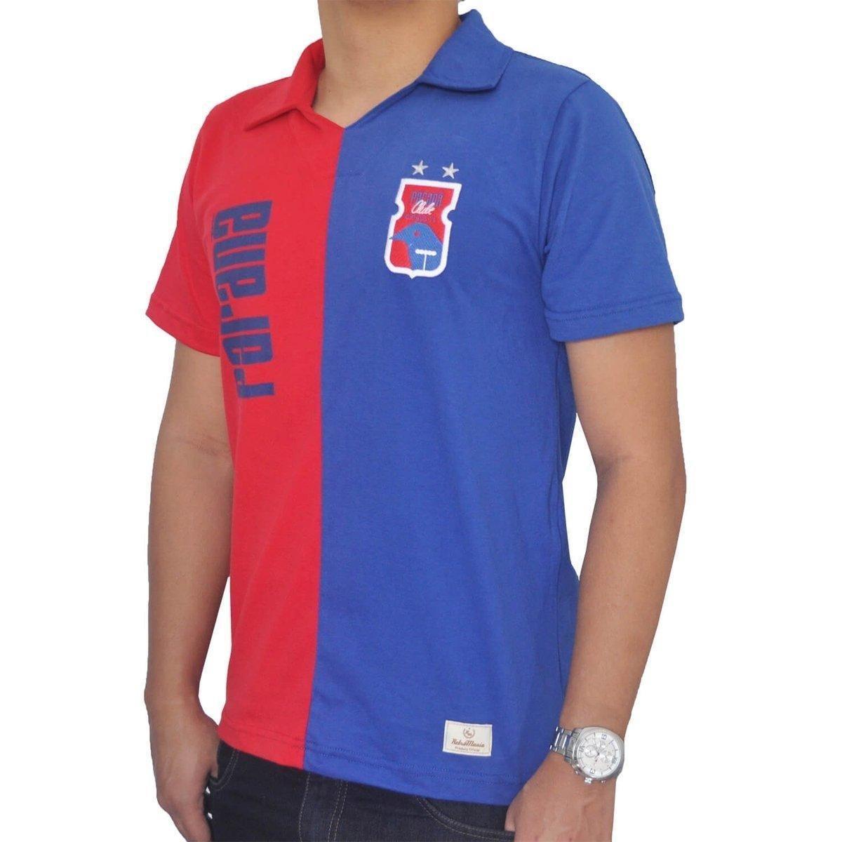 Camisa Retrô Mania Paraná Clube Anos 90 - Azul e Vermelho - Compre ... 0cd2e3e9856b8