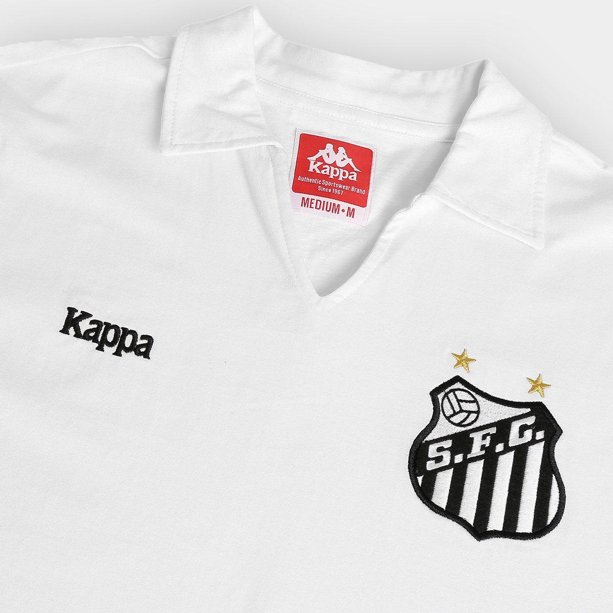 a24902b4fe Camisa Retrô Santos Kappa Masculina - Compre Agora