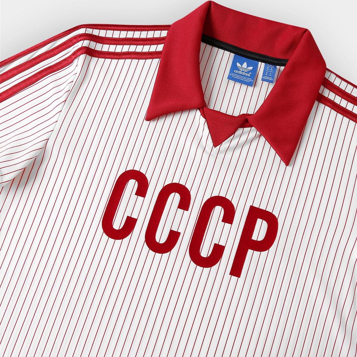 a08d84c9a3 Camisa Retrô União Soviética Away 1982 Adidas Masculina - Compre ...