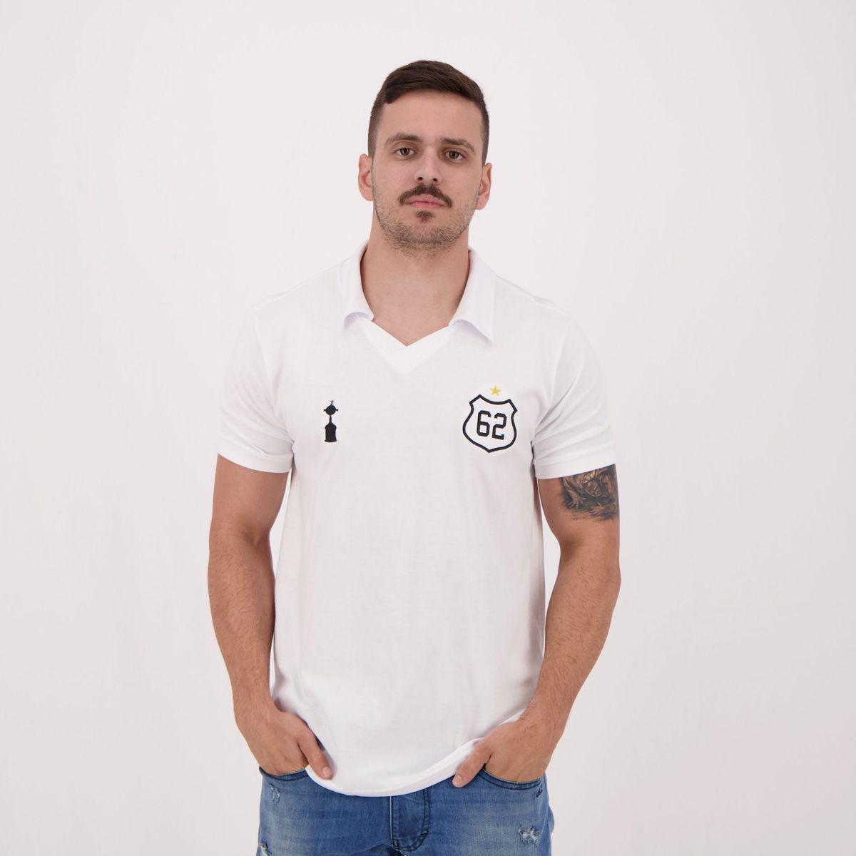123461976a Camisa Retrômania Santos 1962 Masculina - Branco - Compre Agora ...