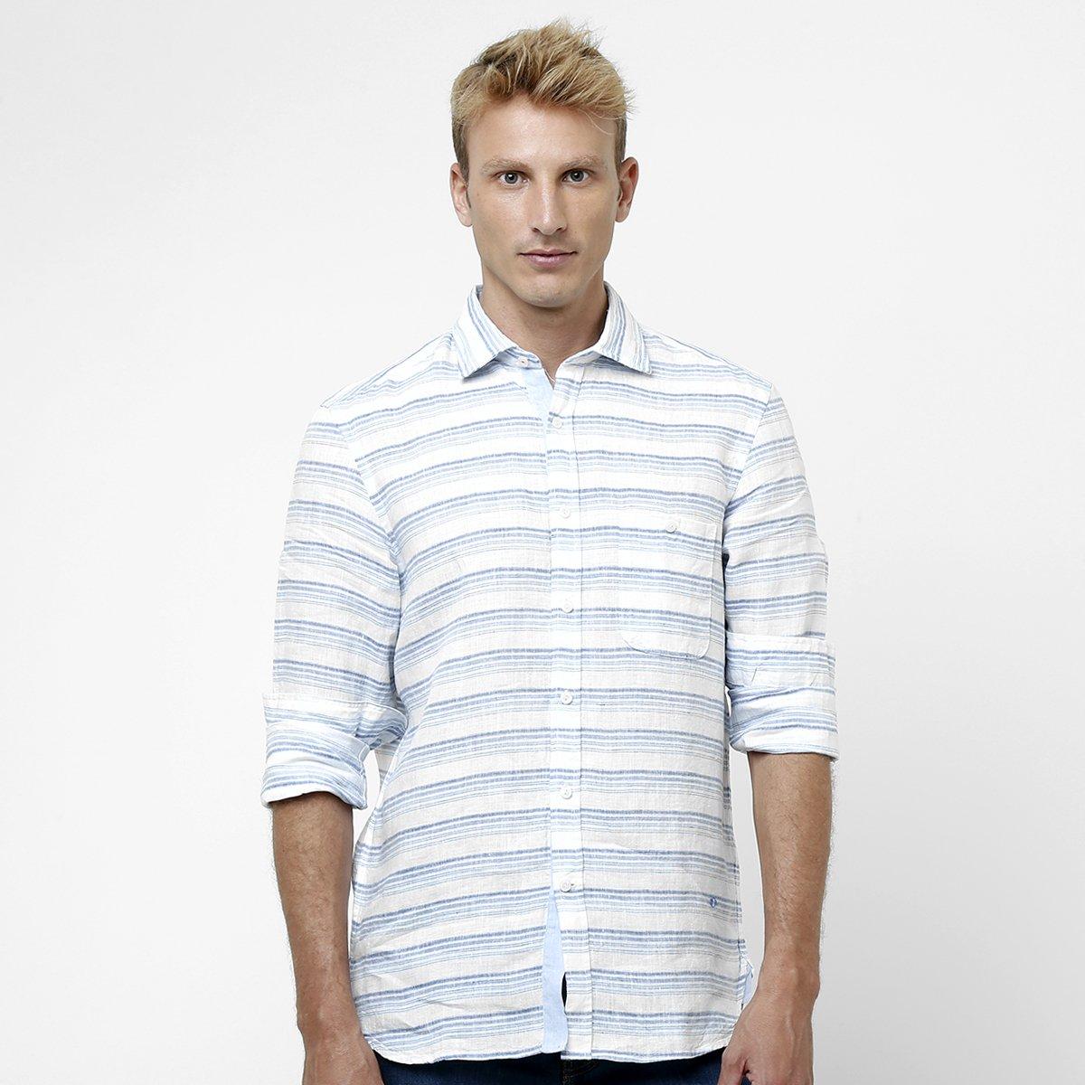 c2e2db39a0020 Camisa Richards Linho Listrada - Compre Agora