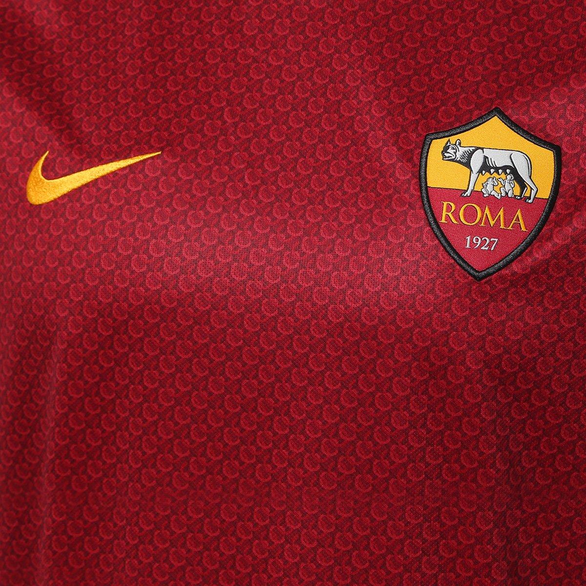 51f38e5d3f Camisa Roma Home 2018 s n° - Torcedor Nike Masculina - Vermelho e ...
