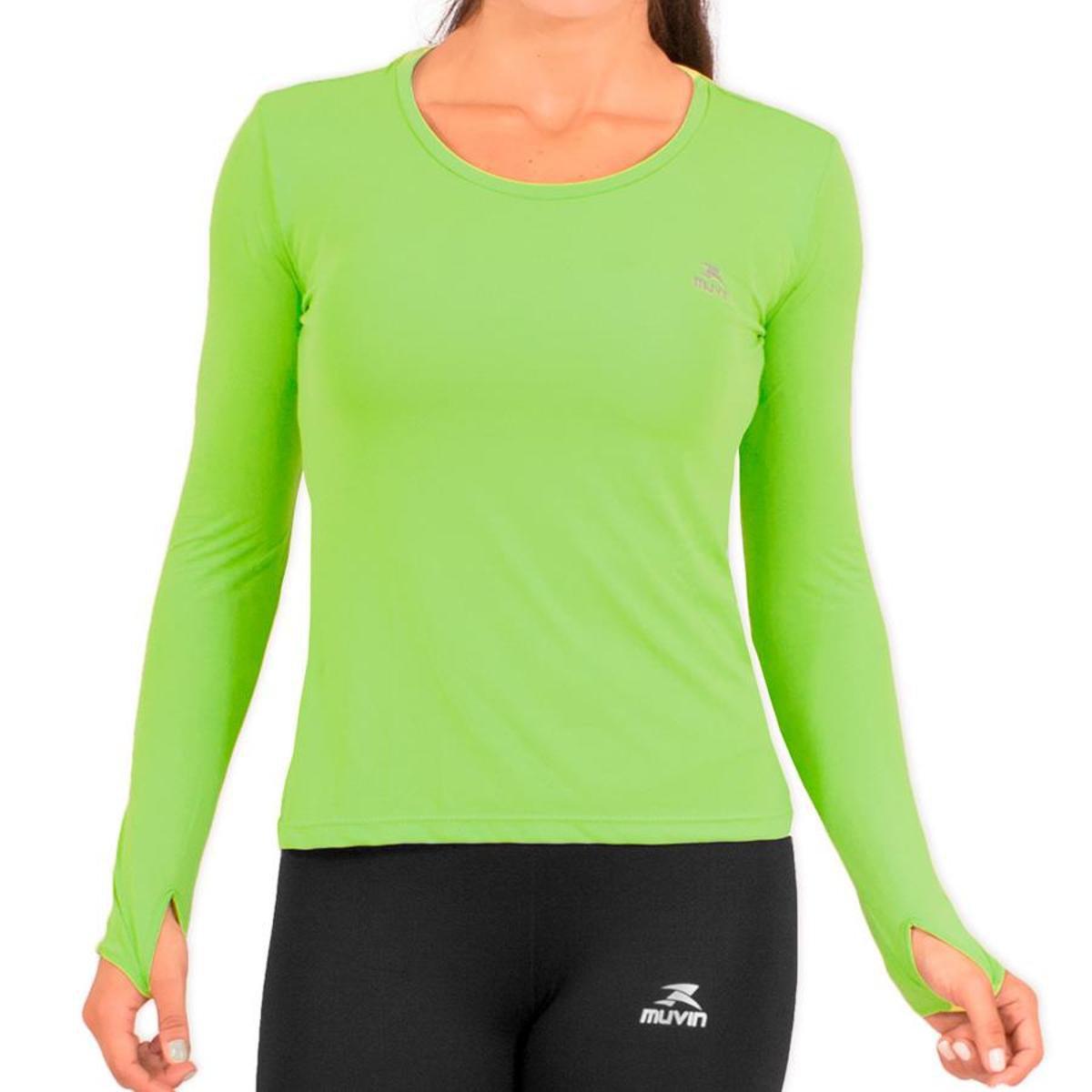 CLR Camisa Verde Performance UV50 Running Poliamida G1 400 LS HC aqa0A7