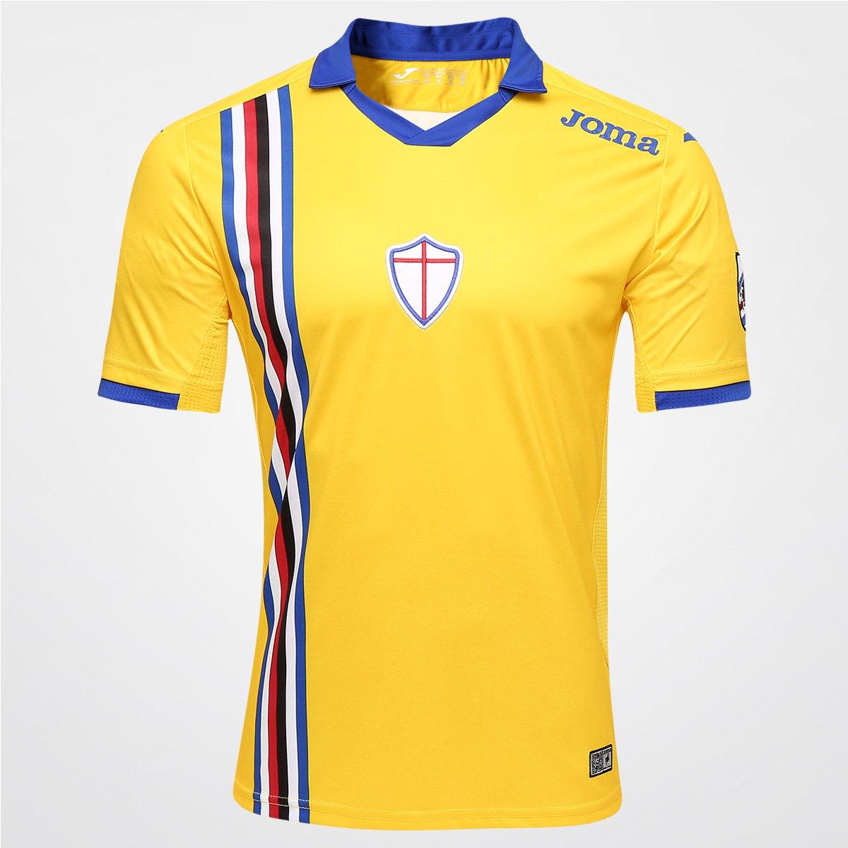 33d43be945 Camisa Sampdoria Third 15 16 s nº Torcedor Joma Masculina - Compre Agora