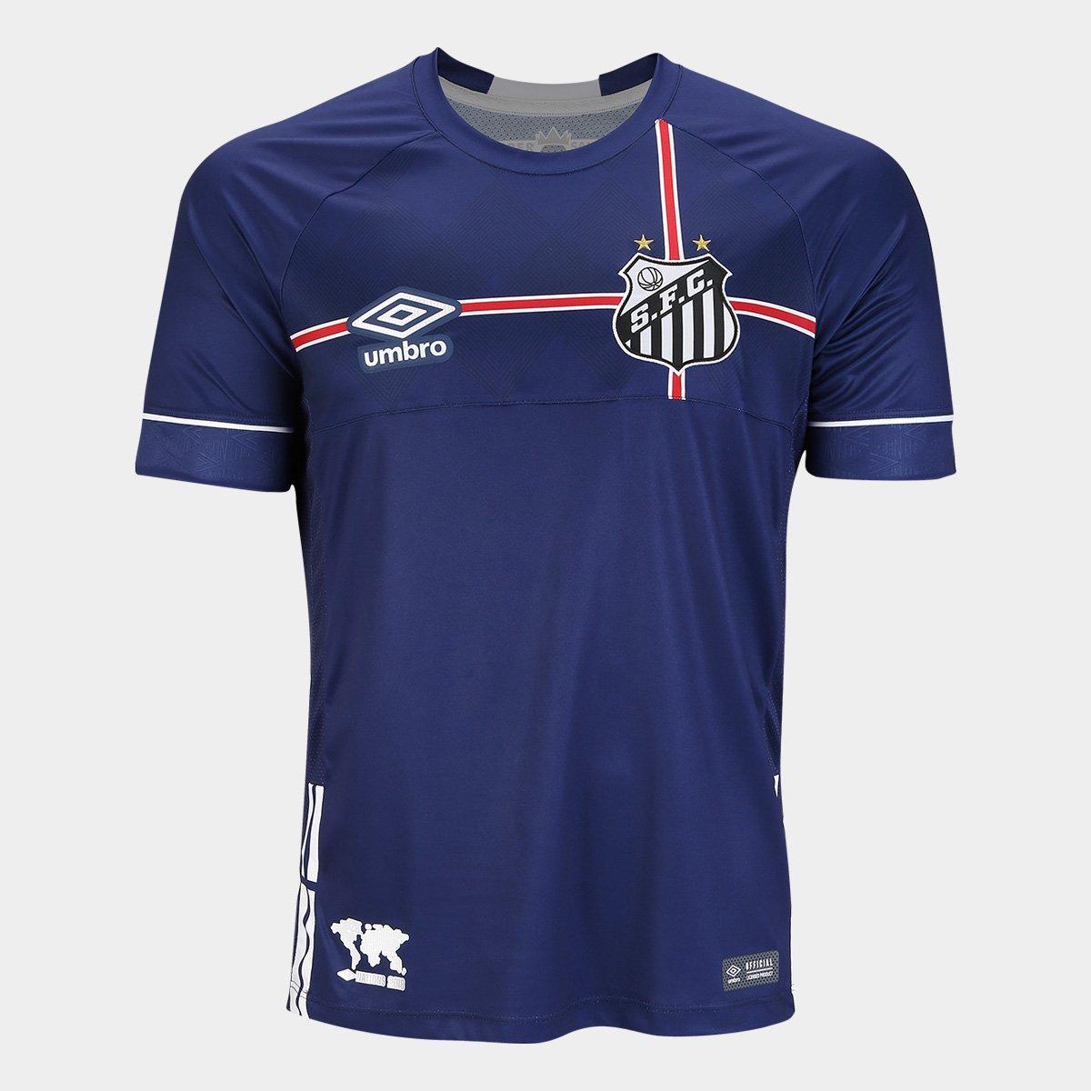 95c5e4cd4bff2 Camisa Santos 2018 s n° The Kingdom - Torcedor Umbro Masculina - Marinho e  Branco - Compre Agora