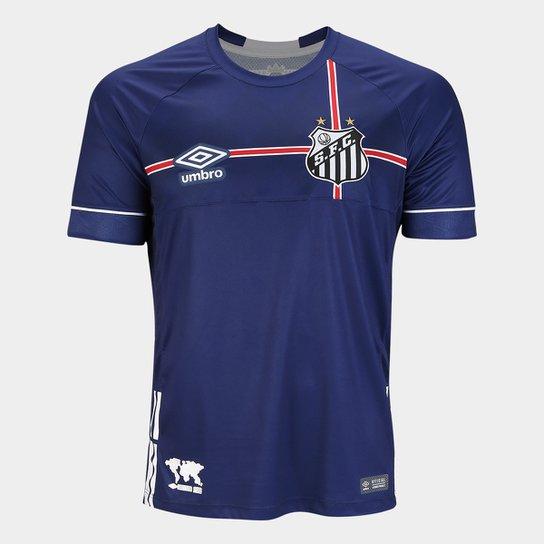 Camisa Santos 2018 s/n° The Kingdom - Torcedor Umbro Masculina - Marinho+Branco