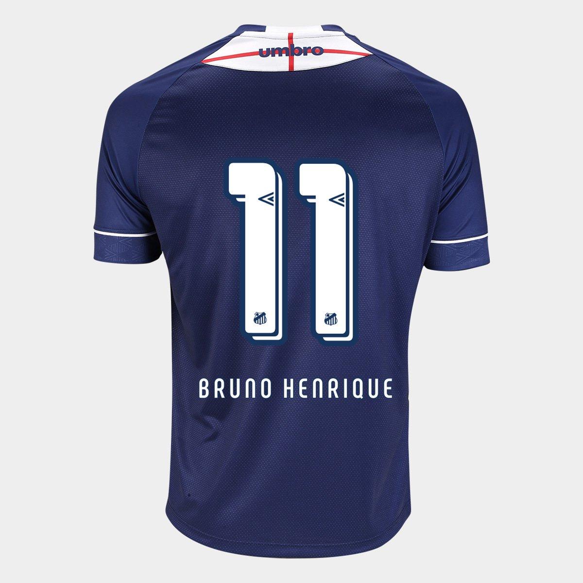 20ab3b3f914 Camisa Santos 2018 The Kingdom n° 11 Bruno Henrique - Torcedor Umbro  Masculina - Compre Agora
