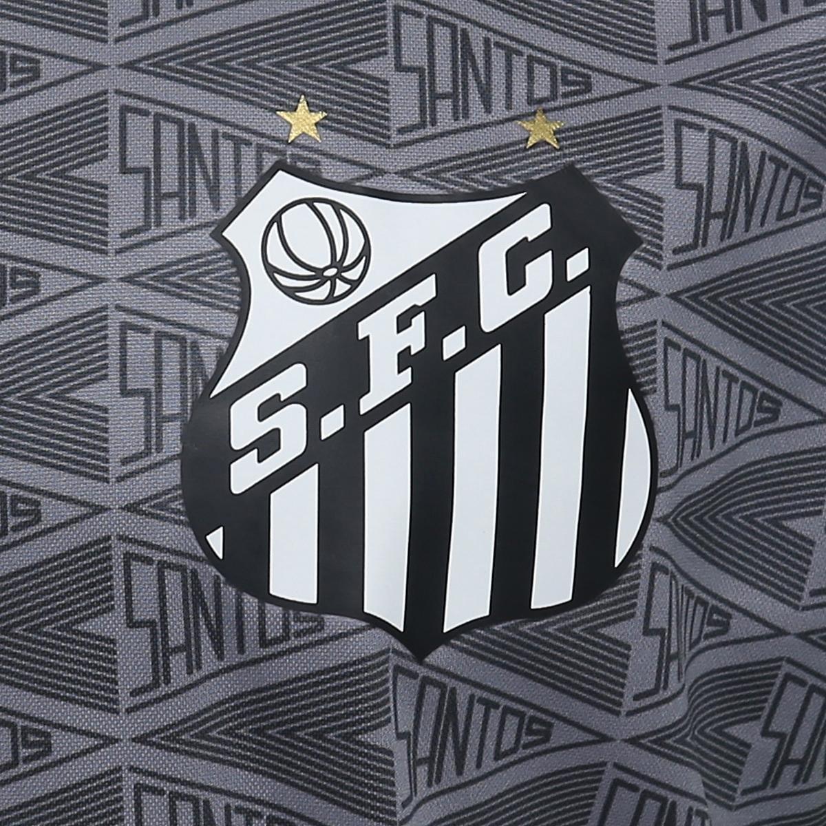 Camisa Santos Aquecimento 2018 Umbro Masculina - Cinza e Amarelo ... 259e19cf8c92d