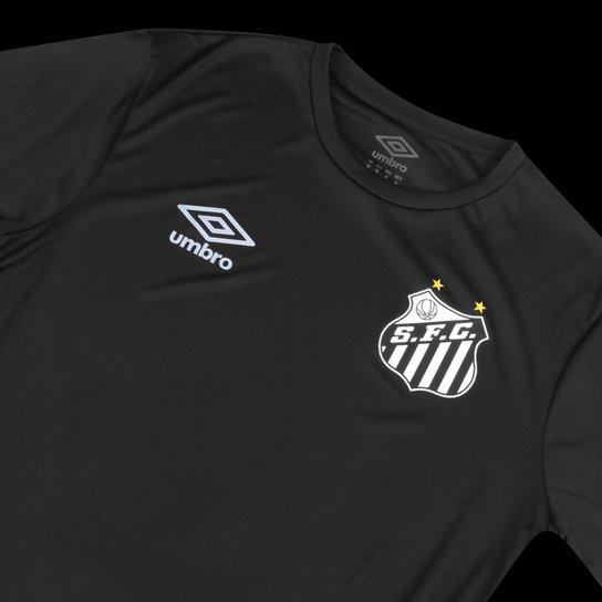 Camisa Santos Black Edição Limitada 20/21 s/n° Torcerdor Umbro Masculina - Preto