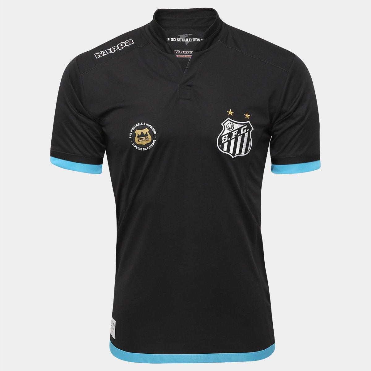 Camisa Santos Goleiro I 2016 s nº Torcedor Kappa Masculina - Compre ... ae9ecaa97741e