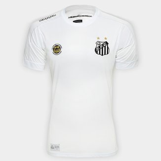 Camisa Santos I 17/18 s/nº Torcedor Kappa Masculina