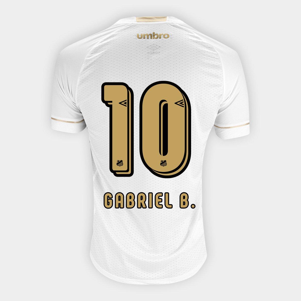 2a4ae2a9663e9 Camisa Santos I 18 19 n° 10 Gabriel - Torcedor Umbro Masculina - Compre  Agora