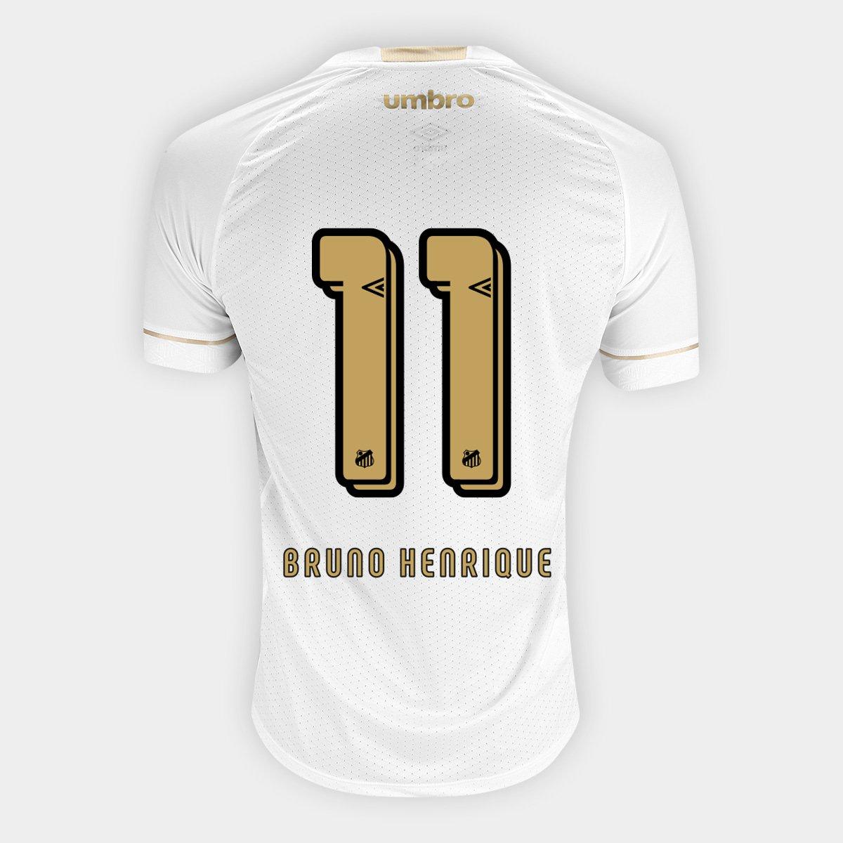 21b3ac4135 Camisa Santos I 18 19 n° 11 Bruno Henrique - Torcedor Umbro Masculina -  Compre Agora