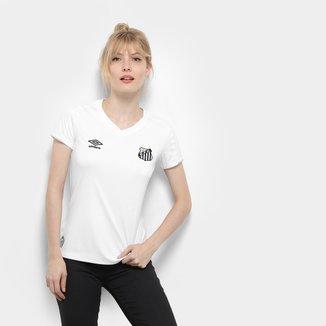 Camisa Santos I 19/20 s/nº Torcedor Umbro Feminina