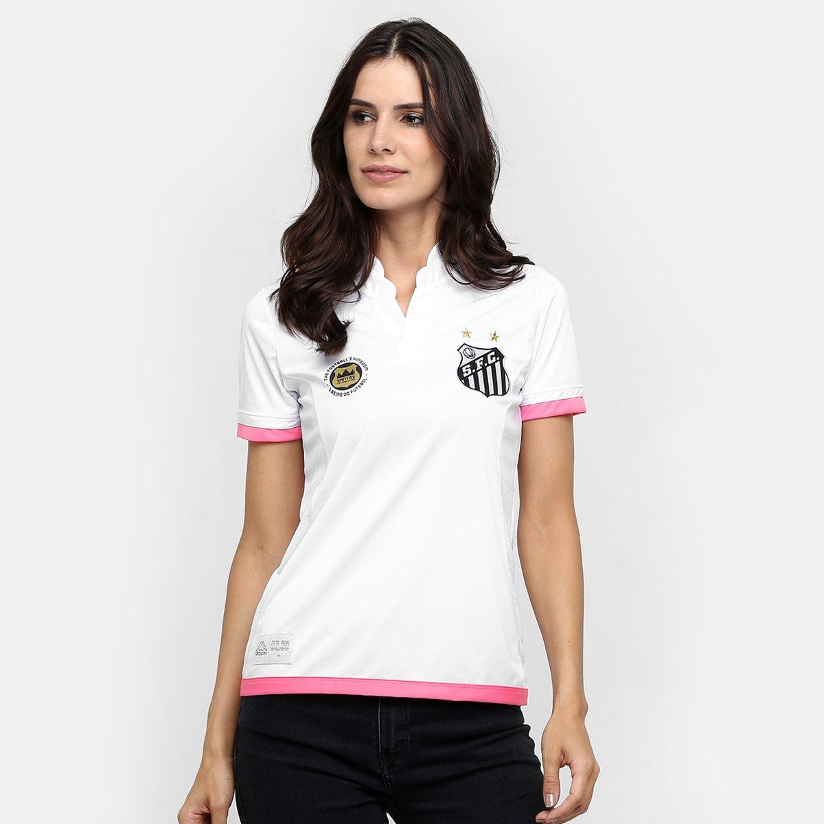 7220ce009adb7 Camisa Santos I 2016 s nº - Ed. Especial Torcedor Kappa Feminina - Compre  Agora
