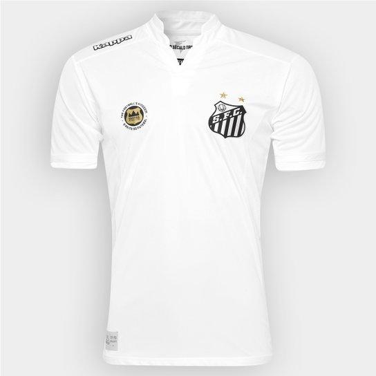 Camisa Santos I 2016 s/nº Performance Kappa Masculina - Branco