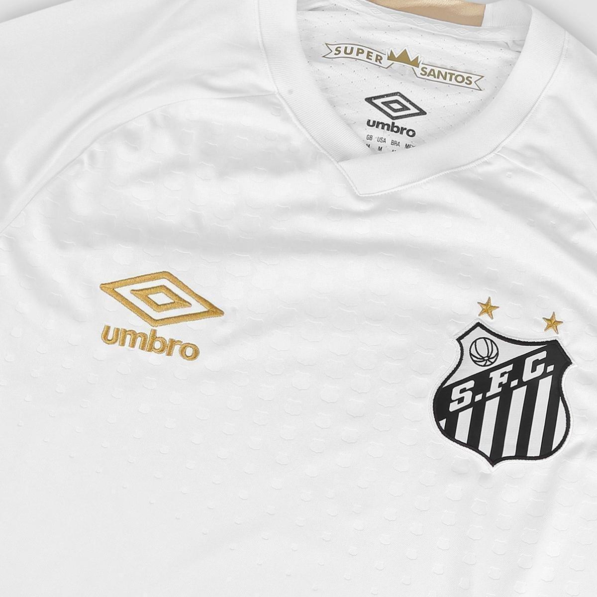 Camisa Santos I 2018 s n° Torcedor Umbro Masculina - Branco e ... 18fa09e90e6d7